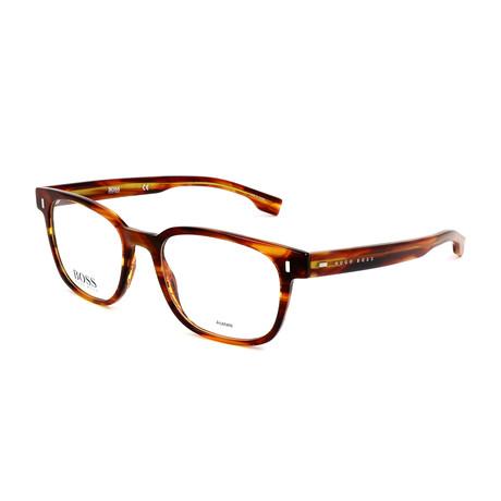 Men's 0958-EX4 Optical Frames // Brown Horn