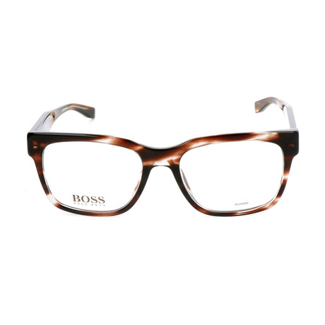 Men's 0737-K8E Optical Frames // Dark Havana + Blue Gray