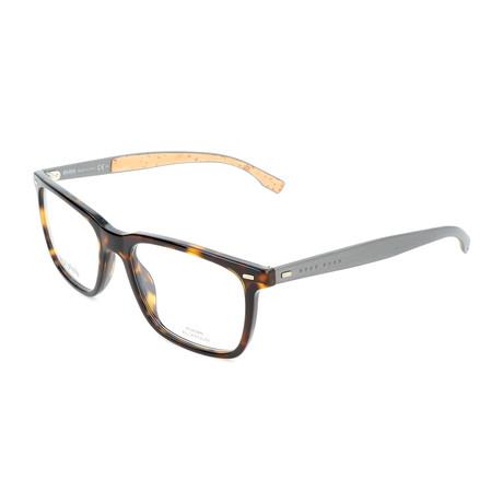 Men's 0884-0R6 Optical Frames // Havana + Matte Dark Ruthenium