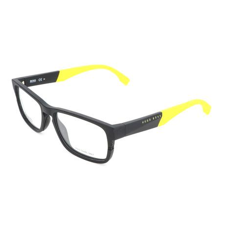 Men's 0917-1XE Optical Frames // Matte Black + Yellow