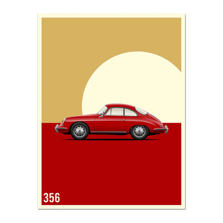 Vintage Excellence // 356 Car Poster