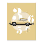 Vintage Beauty // 356 Car Poster