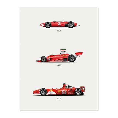 The Red Trilogy // Ferrari F56 + 312T + F2004