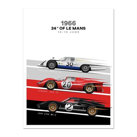The Endurance Trio // 908/8 LH vs GT40 vs 330 P3 Motorsport Poster