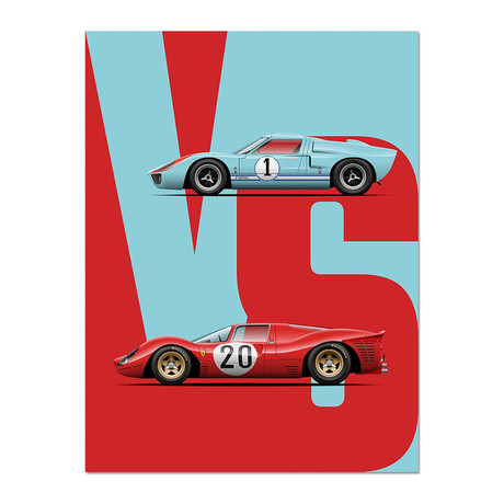 The Ultimate Endurance Rivalry // GT40 vs 330P3 Motorsport Poster