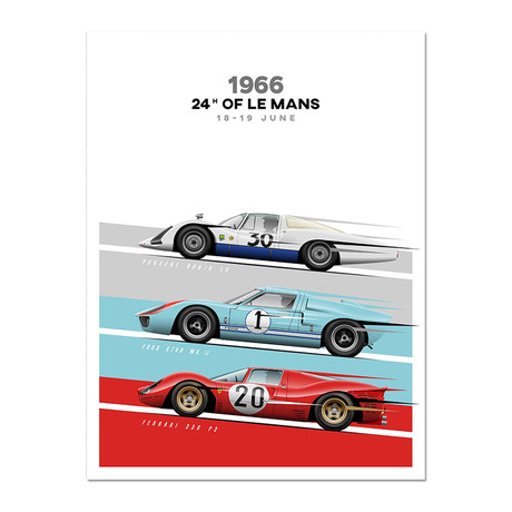 The Endurance Triple Threat // 908/8 LH vs GT40 vs 330 P3 Motorsport Poster