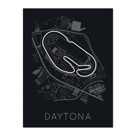 Sunshine-Injected Speed // The Daytona International Speedway Poster