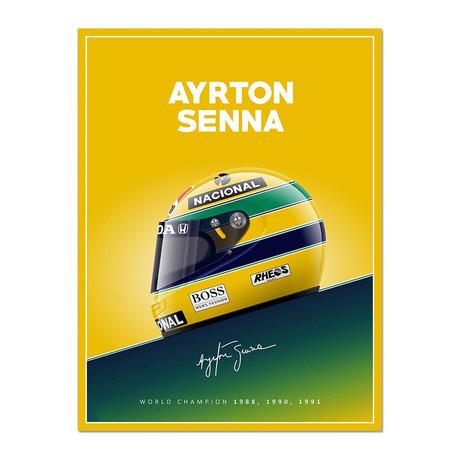 The Brazilian Legend // Senna Helmet