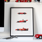 The Red Trilogy // Ferrari F56 + 312T + F2004