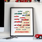 The Red Baron // A History of Michael Schumacher's Vehicles