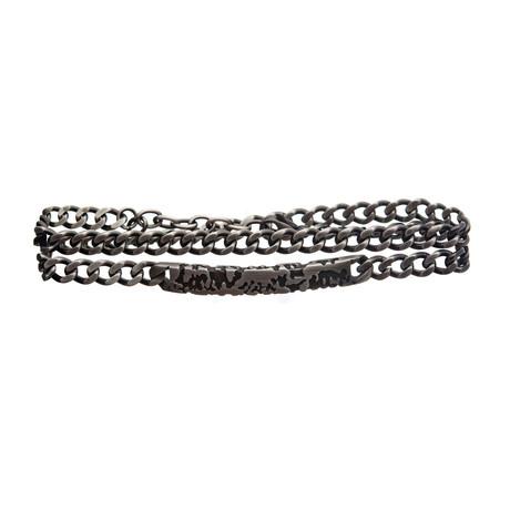 Stainless Steel Double Wrap Chain Terra Bracelet // Silver