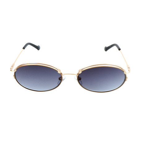 Unisex AOM015 Sunglasses // Gold + Dark Gray