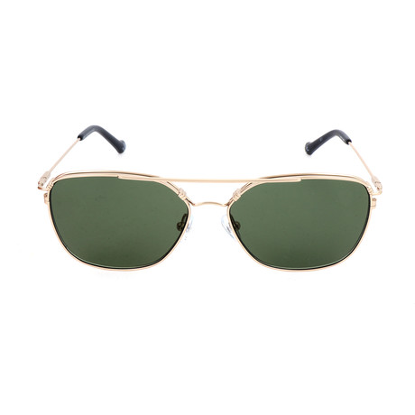 Unisex AOM011 Sunglasses // Gold + Green
