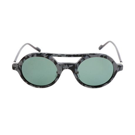 Unisex AOK004 Polarized Sunglasses // Gray Havana + Green