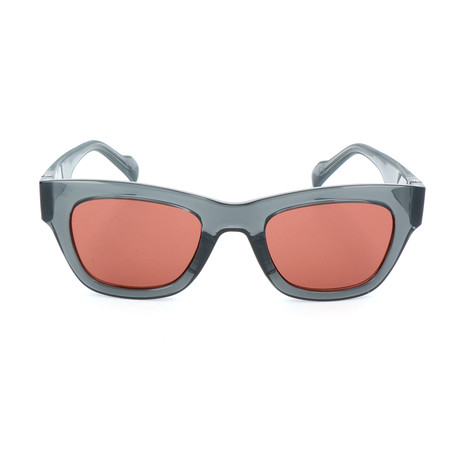 Unisex AOG003 Sunglasses // Semi-Transparent Gray + Red