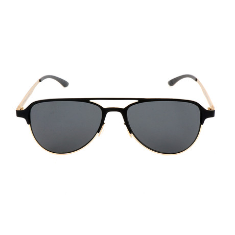 Men's AOM005 Sunglasses // Black + Light Gold