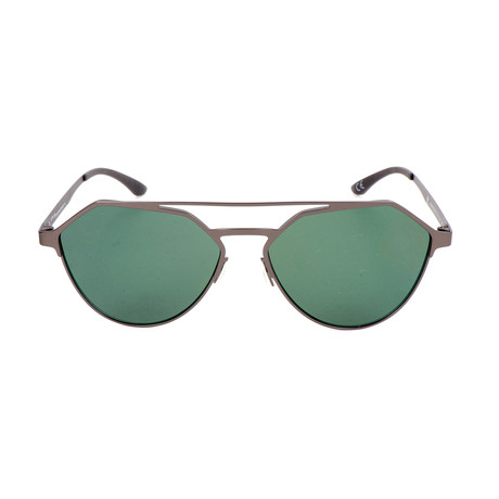 Men's AOM009 Sunglasses // Gunmetal + Green