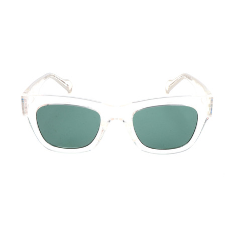 Unisex AOG003 Sunglasses // Semi-Transparent Crystal + Green