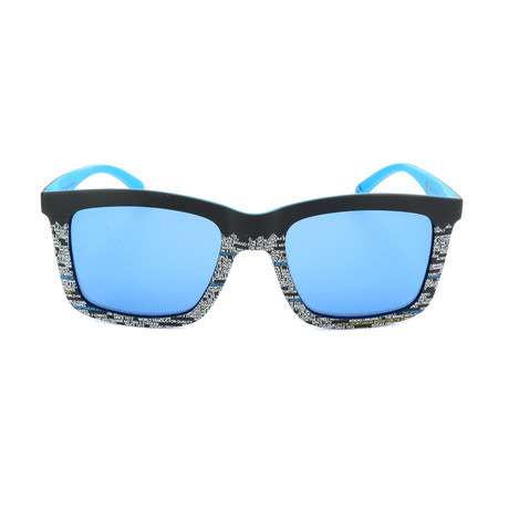 Men's AOR015 Sunglasses // Black + Blue + Silver