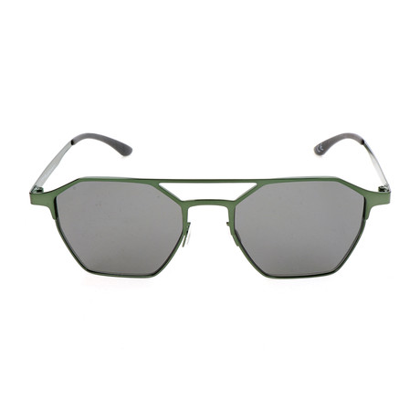 Unisex AOM008 Sunglasses // Glossy Army Green + Gray