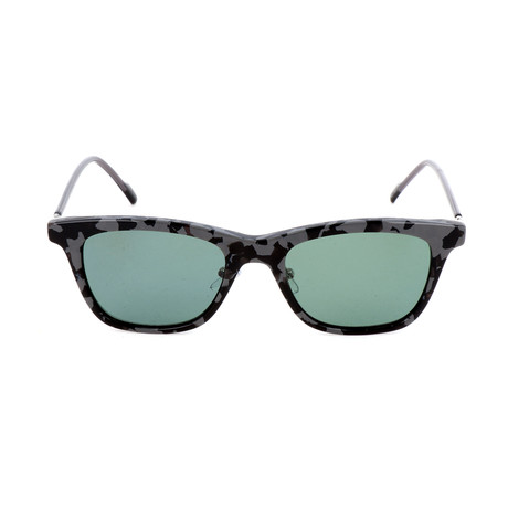 Unisex AOK005 Polarized Sunglasses // Gray Havana + Green
