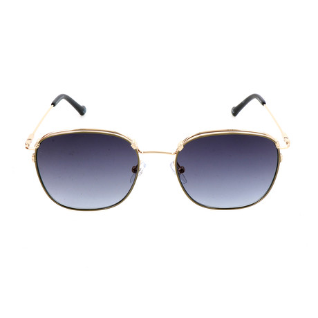 Unisex AOM014 Sunglasses // Gold + Dark Blue Gray