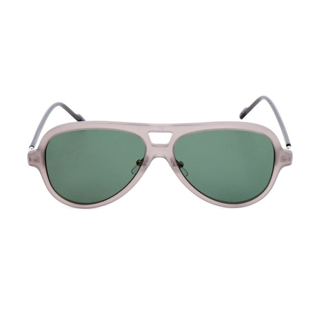 Men's AOK00 Sunglasses // Dark Gray + Green