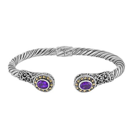 Women's Amethyst Cable Bracelet