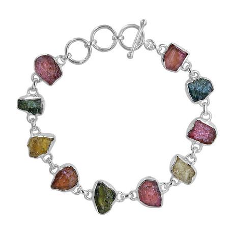 Women's Tourmaline Bracelet // Silver + Multicolor
