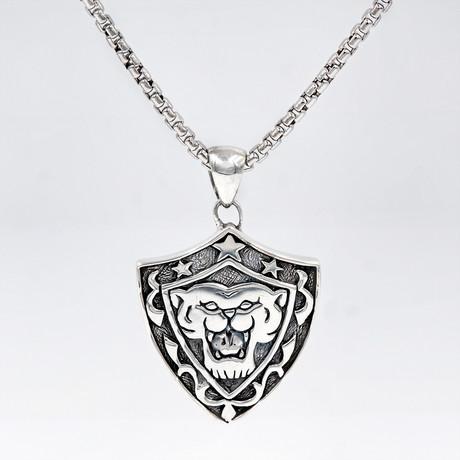 Men's Lion Shield Necklace