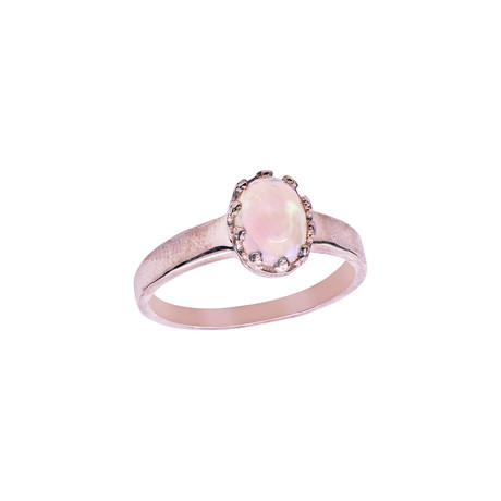 Women's Opal Ring // Rose + Multicolor (7)