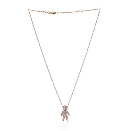 Crivelli 18k Rose Gold Diamond Necklace