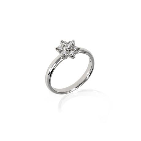 Crivelli 18k White Gold Diamond Ring III // Ring Size: 7