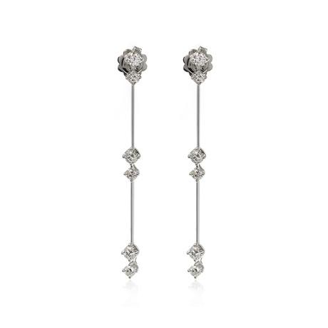 Crivelli 18k White Gold Diamond Earrings IX
