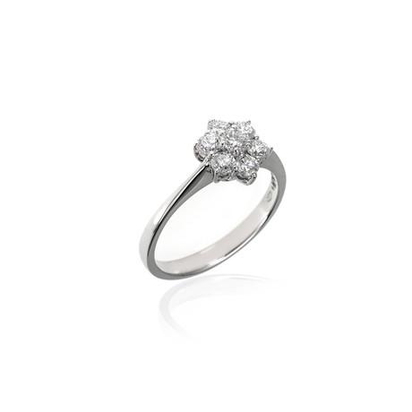 Crivelli 18k White Gold Diamond Ring II // Ring Size: 7