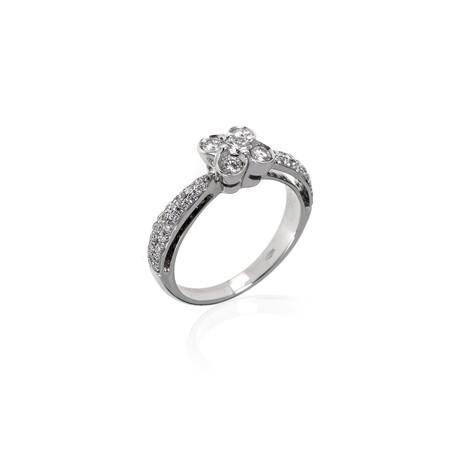 Crivelli 18k White Gold Diamond Ring // Ring Size: 7.5
