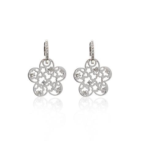 Crivelli 18k White Gold Diamond Earrings IV