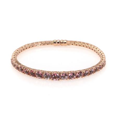 Crivelli 18k Rose Gold Pink Topaz Bracelet