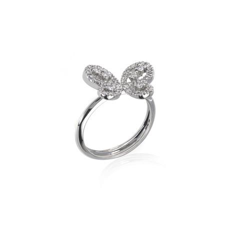Crivelli 18k White Gold Diamond Ring // Ring Size: 6