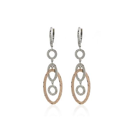 Crivelli 18k Two-Tone Gold Diamond Earrings