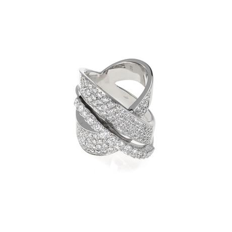 Crivelli 18k White Gold Diamond Ring II // Ring Size: 6.5
