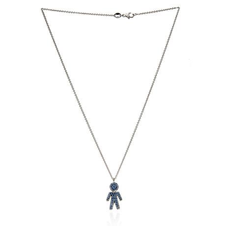 Crivelli 18k White Gold Sapphire Necklace