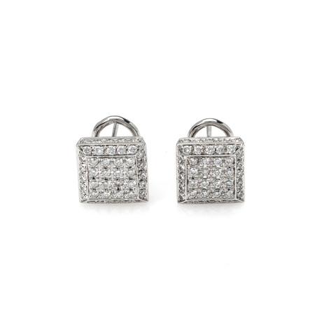 Crivelli 18k White Gold Diamond Earrings VII