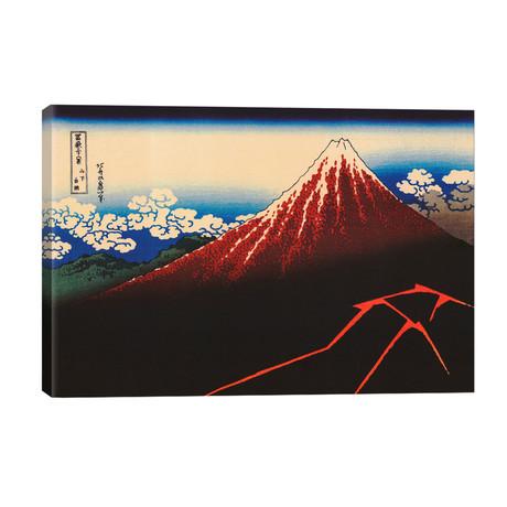 Lightning Below The Summit // Katsushika Hokusai