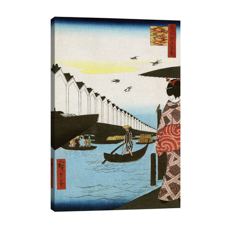 Hiroshige: Waterfront, 1857 // Ando Hiroshige