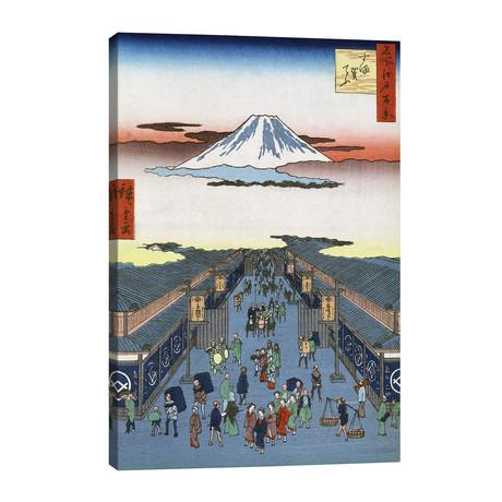 Hiroshige: Street, 1856 // Ando Hiroshige