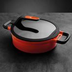 "Gem // Nonstick Two-Handle Sauté Pan // 11"" // Caribbean Red"