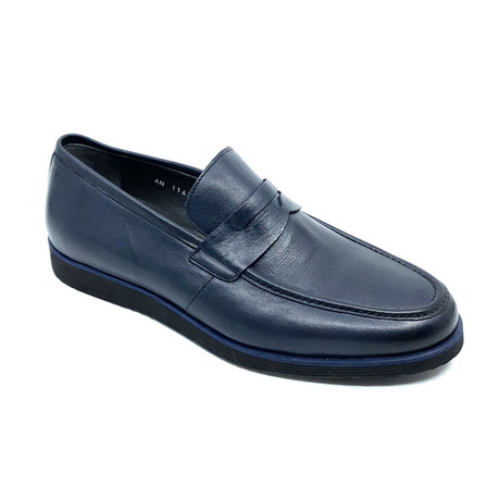 Ross Penny Loafers // Navy Blue (Euro: 39)