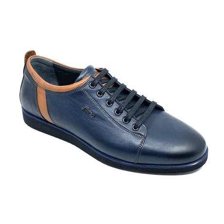 Howard Sneakers // Navy Blue + Brown (Euro: 39)