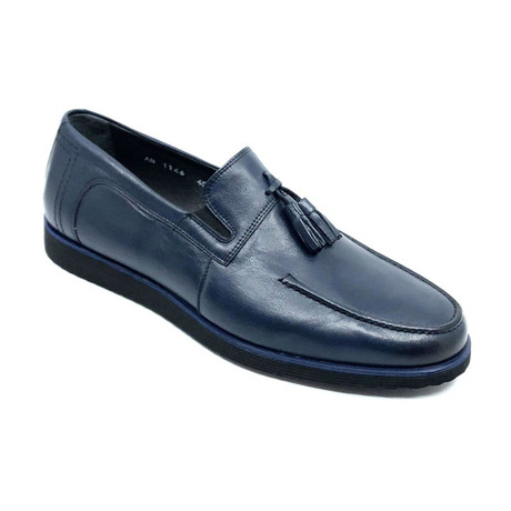 Anas Loafers + Tassel // Navy Blue (Euro: 39)